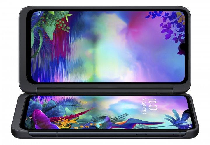 Aufgeklappt kann man den Dual-Screen als Film- oder Spielanzeige nutzen, während das Smartphone als Spielekonsole oder schlichtweg als Ständer dient