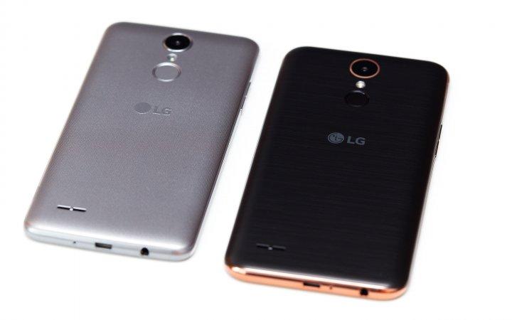 Sehen aus wie Fingerabdrucksensoren, sind aber keine: Die An/Aus-Schalter auf der Rückseite vom LG K8 und K10 (rechts)