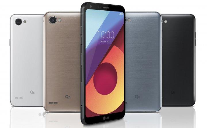 Anders als das LG G6 hat das LG Q6 abgerundete Kanten und keinen Fingerabdruck-Scanner