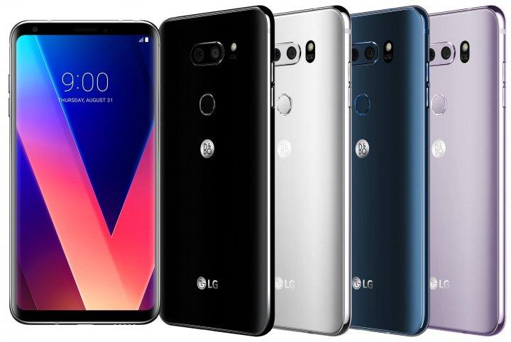 Das LG V30 gibt es in vier Farben