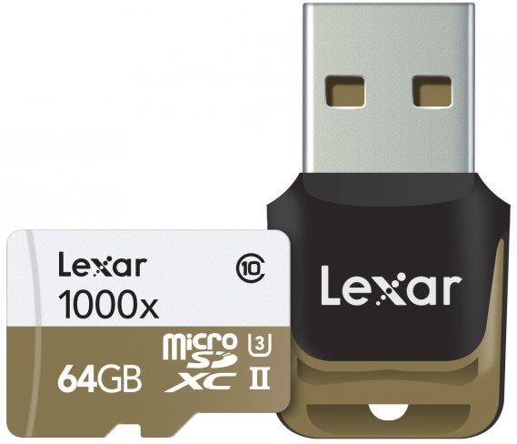 Lexar Professional 1000x UHS-II microSDXC [Bildmaterial: Lexar]