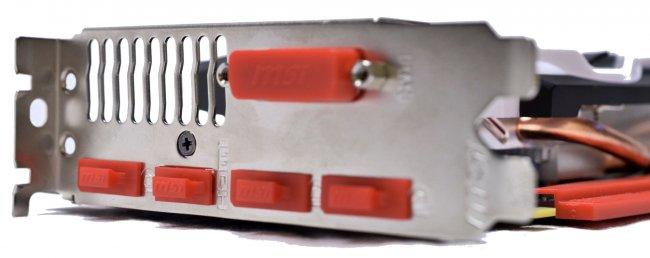 MSI GTX960 2GD5T OC - 3x DisplayPort, 1x DVI und 1x HDMI stehen für Monitore bereit