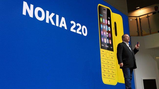 Nokia Pressekonferenz auf dem MWC 2014 in Barcelona