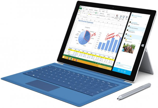 Wie beim Vorgänger ist auch das neue Surface Pro 3 mit einem Stift erhältlich, mit dem sich schnell Notizen in OneNote anfertigen lassen [Bildmaterial: Microsoft]