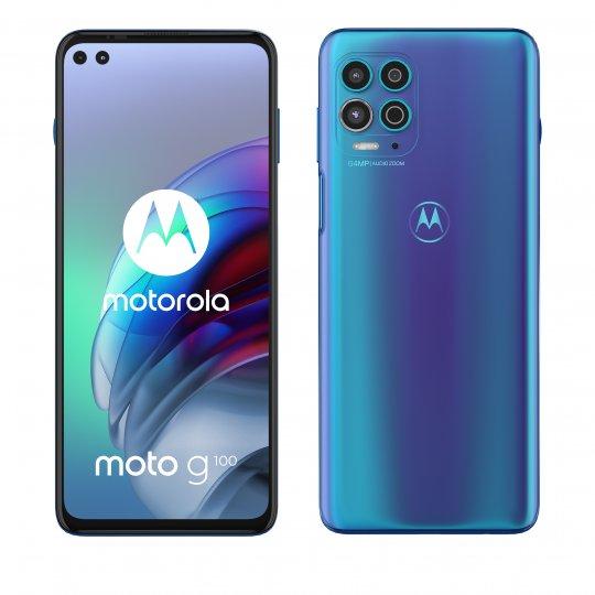 Das Motorola Moto G100 kann über 5G, LTE und WLAN ac/ax im Netz surfen