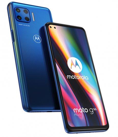 Das Motorola Moto G 5G Plus hat vorn zwei und hinten vier Kameras