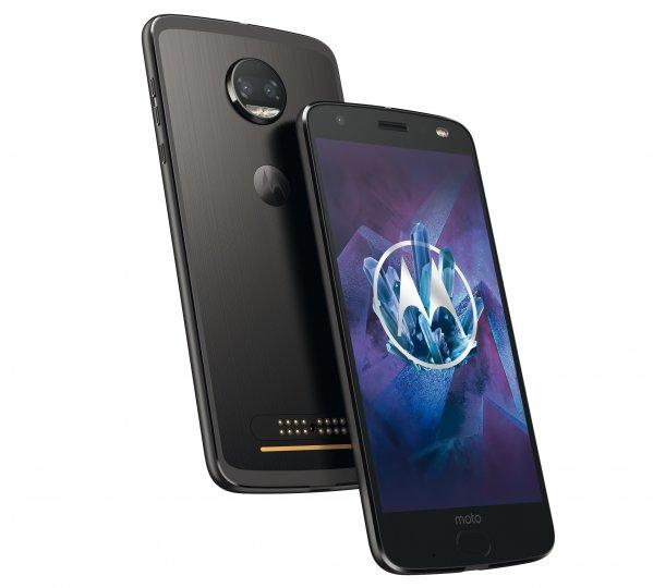 Auf die Rückseite des Motorola Moto Z2 Force Edition können Mods wie das Polaroid Insta-Share aufgesteckt werden