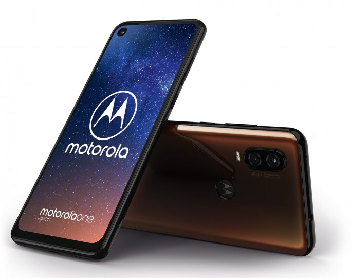Das Motorola One Vision hat ein 21:9-Display mit Selfie-Kamera-Loch