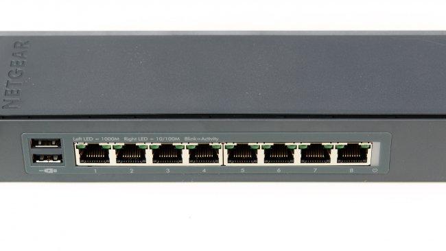Netgear Click Switch GSS108E: Jeder Port unterstützt Geschwindigkeiten bis zu 1 Gbit/s (Voll-Duplex)