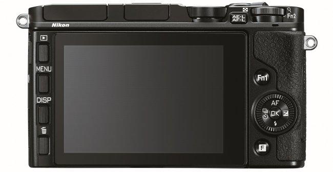 Nikon 1 V3 - Rückseite mit hochauflösendem LCD [Bildmaterial: Nikon]
