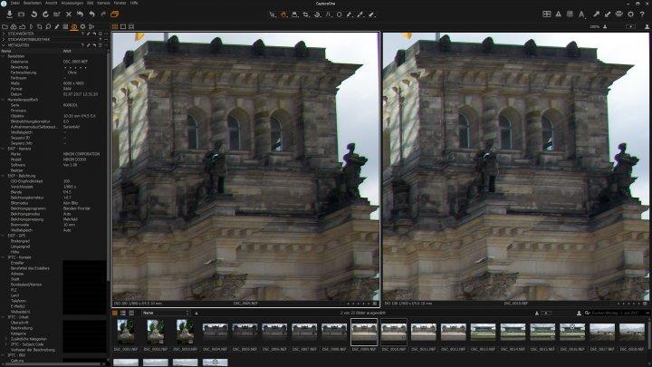 Testbild Nikon AF-P DX 10-20 mm VR + Nikon D3300 | Bildschärfe am Bildrand bei 10 mm
