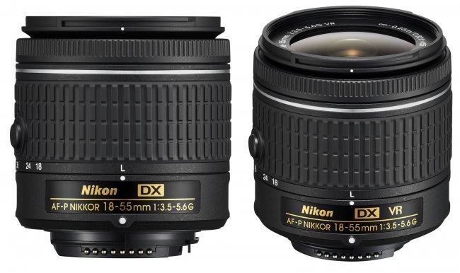 Nikon AF-P DX Nikkor 18-55 mm f/3.5-5.6 ohne und mit Bildstabilisator (VR) [Bildmaterial: Nikon Deutschland]