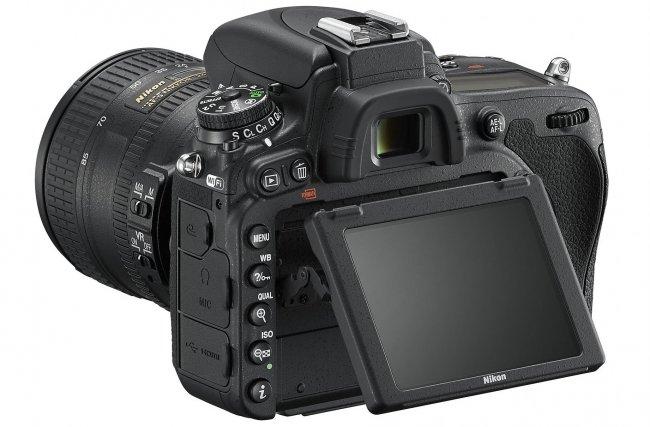 Nikon D750 mit RGBW-Schwenkdisplay [Bildmaterial: Nikon]