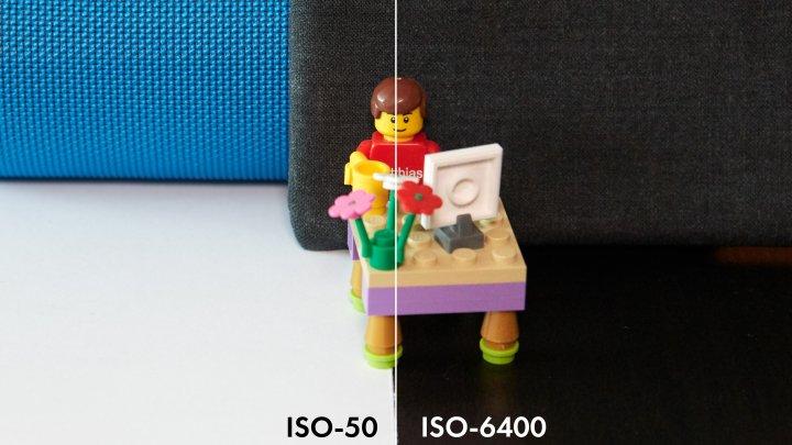 Nikon D7500: Bildrauschen bei ISO-50 (li.) und ISO-6400 im Vergleich