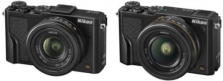 Premium-Kompaktkameras mit DX-Bildsensor: Nikon DL24-85 f/1.8-2.8 und Nikon DL18-50 f/1.8-2.8 [Bildmaterial: Nikon]