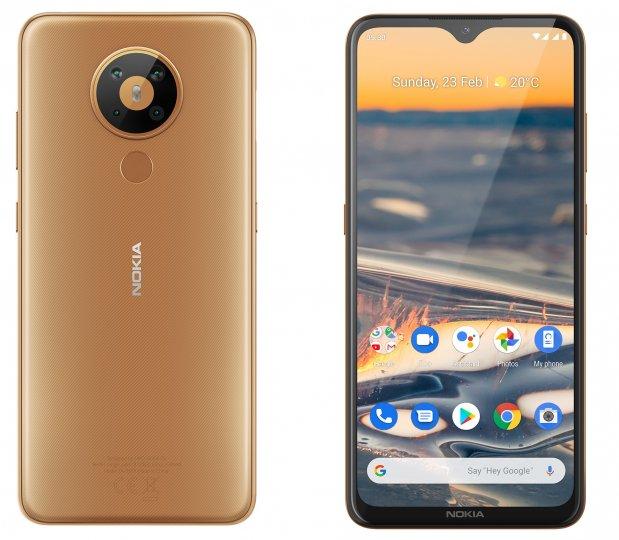 Die Pixeldichte des Nokia 5.3 liegt bei nur 270 ppi, aber anders als das Nokia 5.1 hat es gleich vier Kameras auf der Rückseite