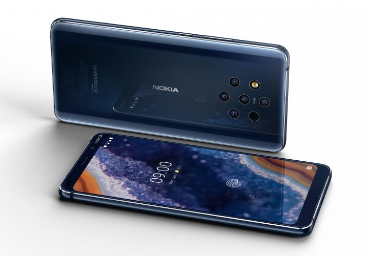 Das Nokia 9 PureView hat gleich fünf Kameras auf der Rückseite und eine 20-MP-Selfie-Kamera auf der Vorderseite