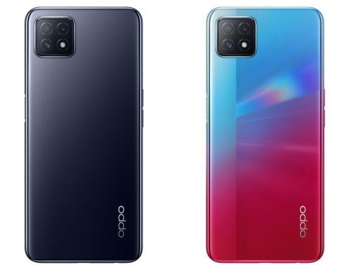 Ineinander Übergehendes Hellbau und Pink geben dem Oppo A73 5G einen speziellen Touch, doch als Display-Technik kommt nur LCD zum Einsatz [Bildmaterial: Oppo]