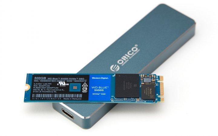 Orico NVMe-SSD-Gehäuse: Wir testen das Gehäuse mit der Western Digital Blue SN500