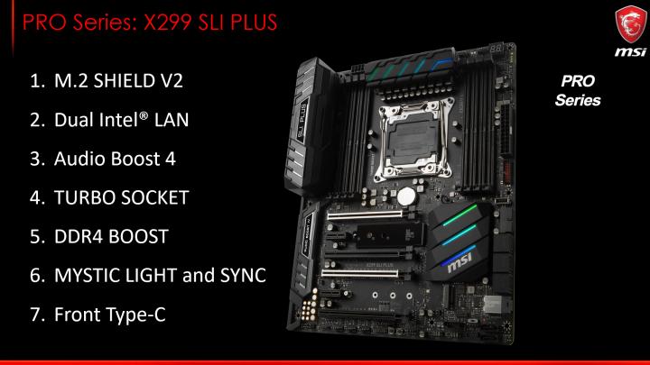 MSI X299 SLI PLUS [Bildmaterial: MSI]