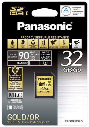Panasonic Gold SDHC-Karte (32 GB) mit Proof 7