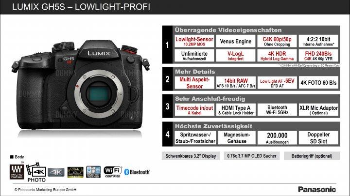 Panasonic Lumix GH5s: Veränderungen gegenüber der GH5 im Überblick [Bildmaterial: Panasonic]