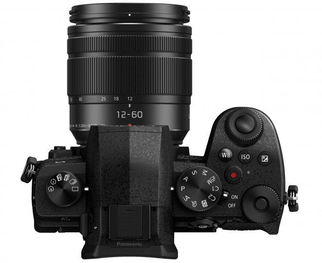 Panasonic Lumix G91: Auf der Oberseite sind Knöpfe für WB, ISO und Belichtungskorrektur hinzugekommen
