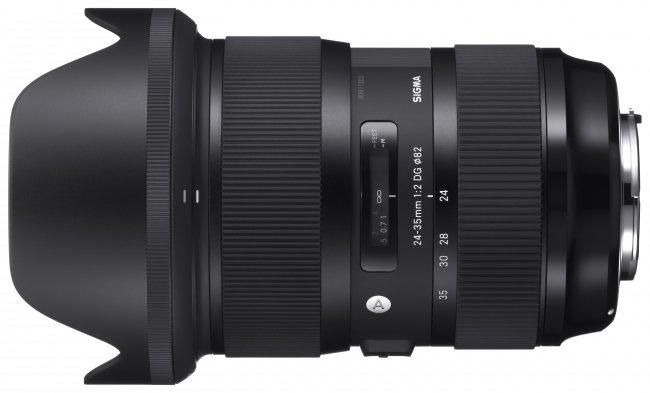 Sigma A 24-35 mm f/2 DG HSM mit Streulichtblende [Bildmaterial: Sigma]