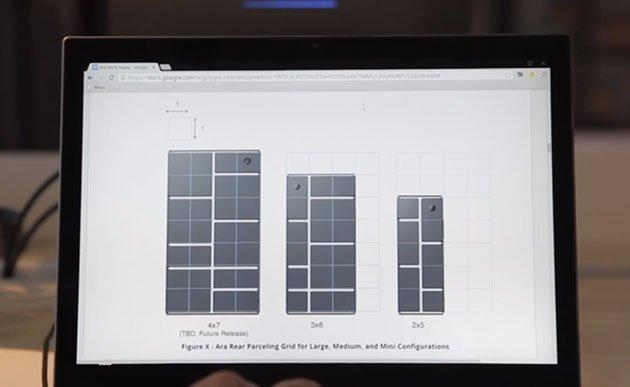 Project Ara wird vermutlich in verschiedenen Größen kommen, drei davon werden hier dargestellt