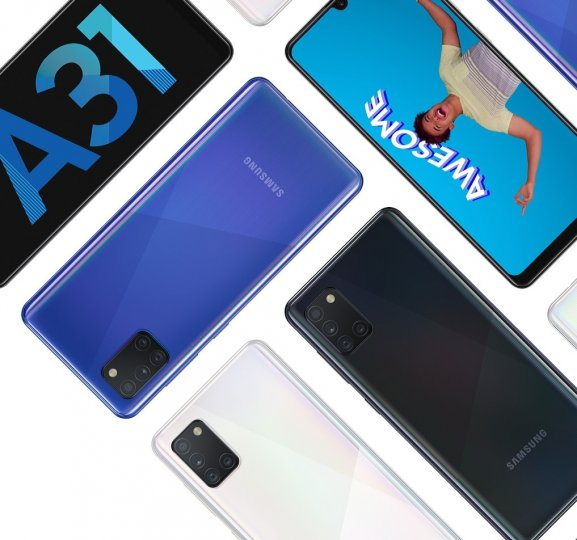 Das Samsung Galaxy A31 ist in mehreren Farben erhältlich
