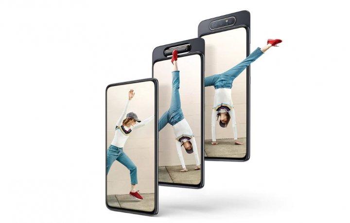 Dank drehbarer Triple-Kamera kann das Samsung Galaxy A80 hochwertige Selfies schießen
