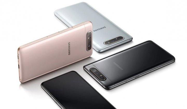 Das Samsung Galaxy A80 ist in den Farben Angel Gold, Phantom Black und Ghost White verfügbar