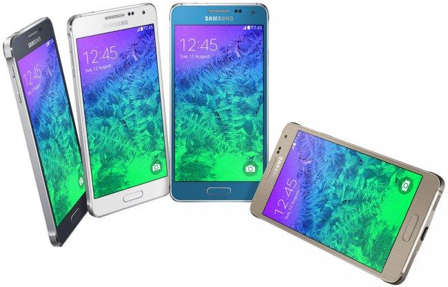 Zu Beginn wird das Galaxy Alpha in Schwarz, Weiß, Gold, Silber und Blau erhältlich sein, wobei sich die angebotenen Farben je nach Region unterscheiden können [Bildmaterial: Samsung]