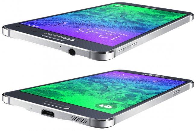 Das neue Design steht beim Alpha für einen dünnen Rahmen, der stellenweise von den Antennen durchzogen wird, außerdem ist der Lautsprecher nach unten gewandert [Bildmaterial: Samsung]