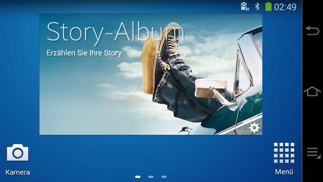 Der Homescreen der Samsung Galaxy Camera 2 kann mit ganz normalen Apps aus dem Google Play-Store gefüllt werden