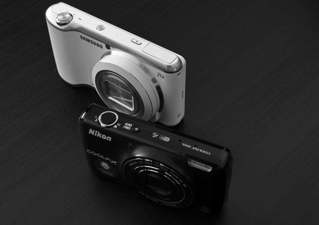 Zwei Android-Kameras: Samsung Galaxy Camera 2 und Nikon Coolpix S810c