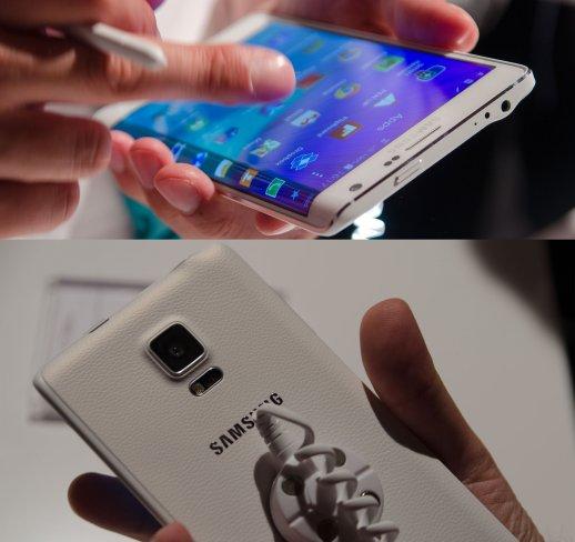 Das Galaxy Note Edge ähnelt dem Note 4 in vielen Punkten, hat jedoch ein erweitertes Display, das über den Rand hinausgeht