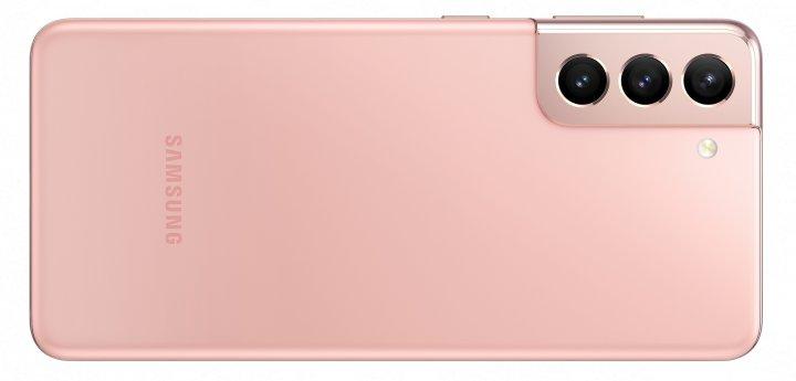 Die Rückseite des Samsung Galaxy S21 besteht aus Kunststoff, was echte Gewichtsvorteile bringt