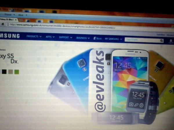 Leaks zufolge ist auf der britischen Samsung-Website kurz das Galaxy S5 Mini bzw. Dx aufgetaucht [Bildmaterial: @evleaks]