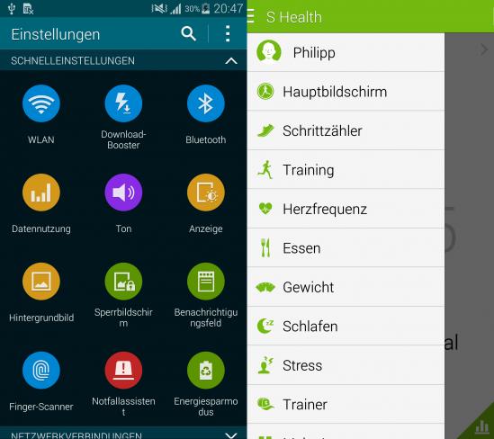 Die Nutzeroberfläche von Android hat Samsung wieder stark angepasst