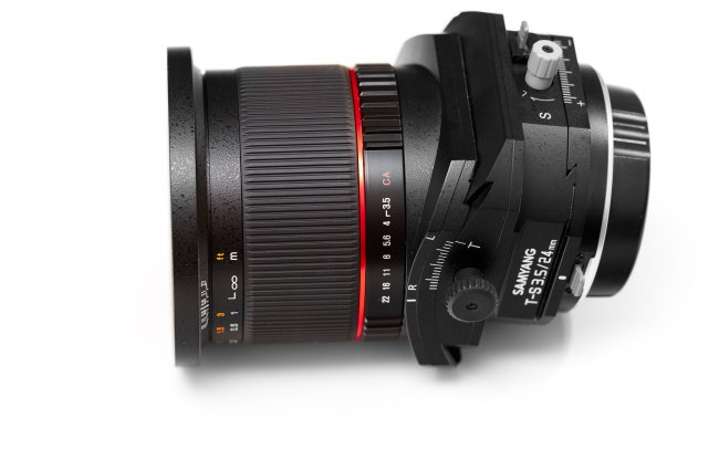 Samyang 24 mm f/3.5 ED AS UMC Tilt/Shift: maximale Tilt-Einstellung