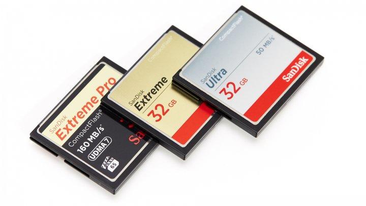 SanDisk Extreme Pro (32 GByte), Extreme (32 GByte) und Ultra (32 GByte) CompactFlash-Speicherkarte aus der 'Kollektion 2014'