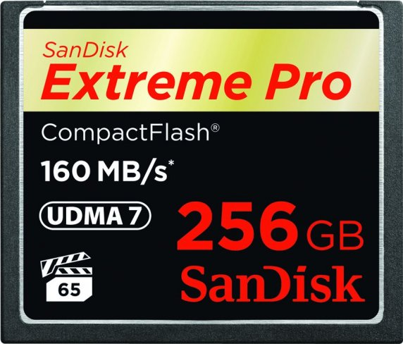 SanDisk Extreme Pro 256 GB CompactFlash