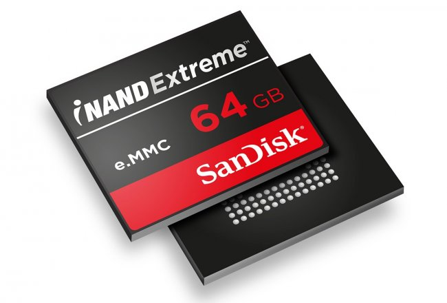 SanDisk iNAND Extreme EFD nach e.MMC-5.0-Spezifikationen [Bildmaterial: SanDisk]