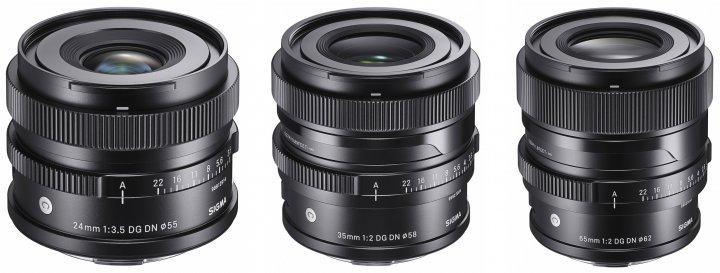 Sigma I-Serie: 24 mm f/3.5   35 mm f/2   65 mm f/2 DG DN Contemporary