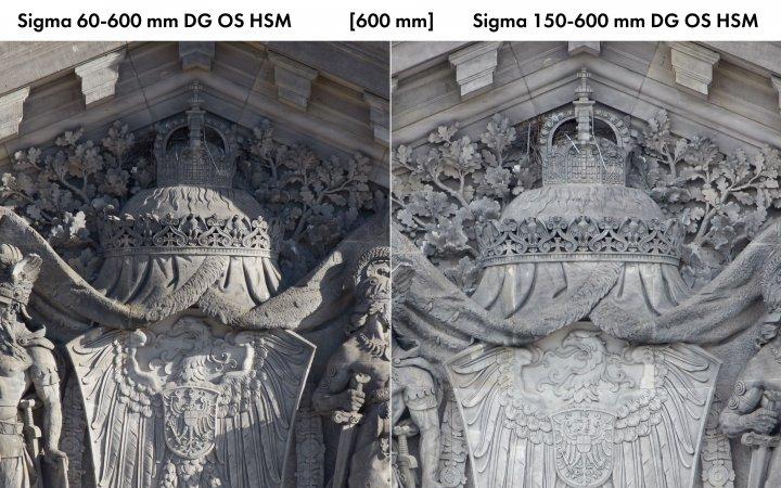 Sigma 60-600 mm Sport (li.) und 150-600 mm Sport im Vergleich