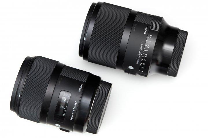 Sigma 35 mm F1.4 DG DN Art (oben) und 35 mm F1.4 DG HSM Art im Vergleich