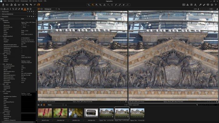Sigma 70 mm f/2.8 DG HSM Macro ART: Bildqualität im Bildzentrum bei f/2.8 und f/4 im Vergleich