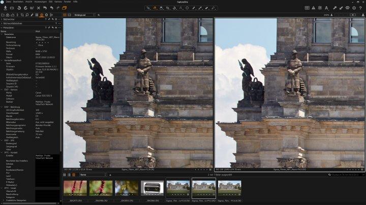 Sigma 70 mm f/2.8 DG HSM Macro ART: Bildqualität am Bildrand bei f/2.8 und f/4 im Vergleich