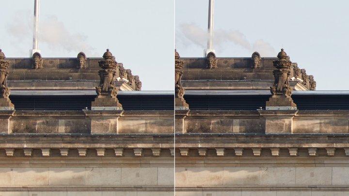 Sigma 85 mm F1.4 DG HSM ART + Canon EOS 5Ds R | Bildschärfe am Bildrand (links: f/1.4, rechts: f/2.8)